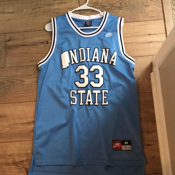 hot sale online d1f9e 7b0a2 Larry bird College Stitched Nike Jersey